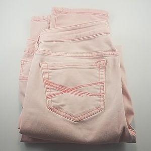 Aeropostale Bayla Skinny Pink Jeans